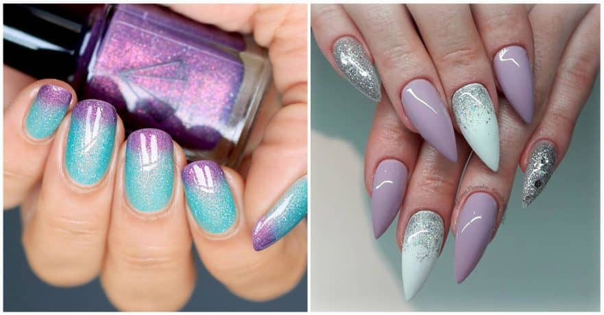 Awesome Color Combination Nails Painting Idea