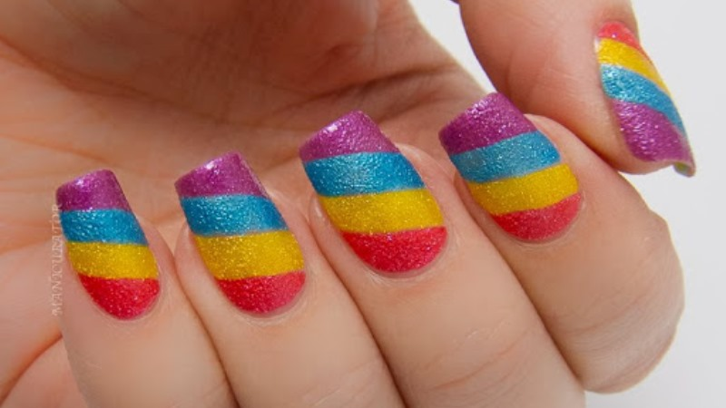 Cool Colorful Patterned Nail Art Styling for Trendy Ladies