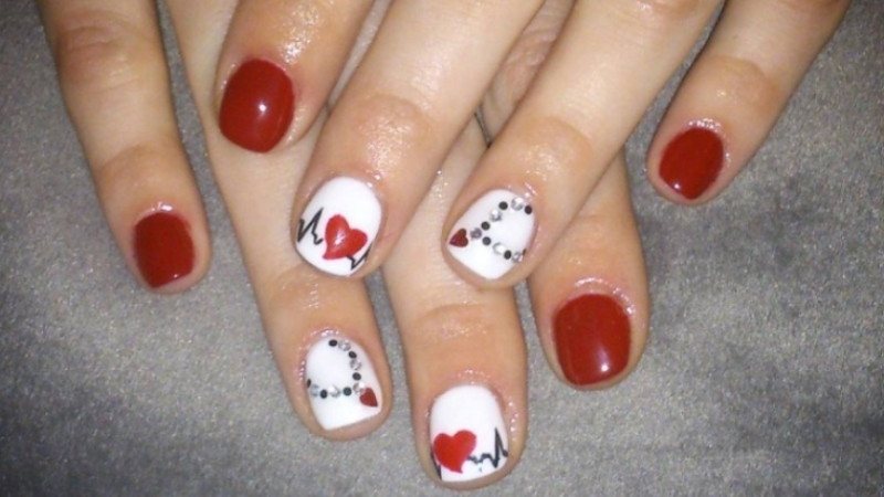 Lovely Heart Nails Art for Crazy Girls